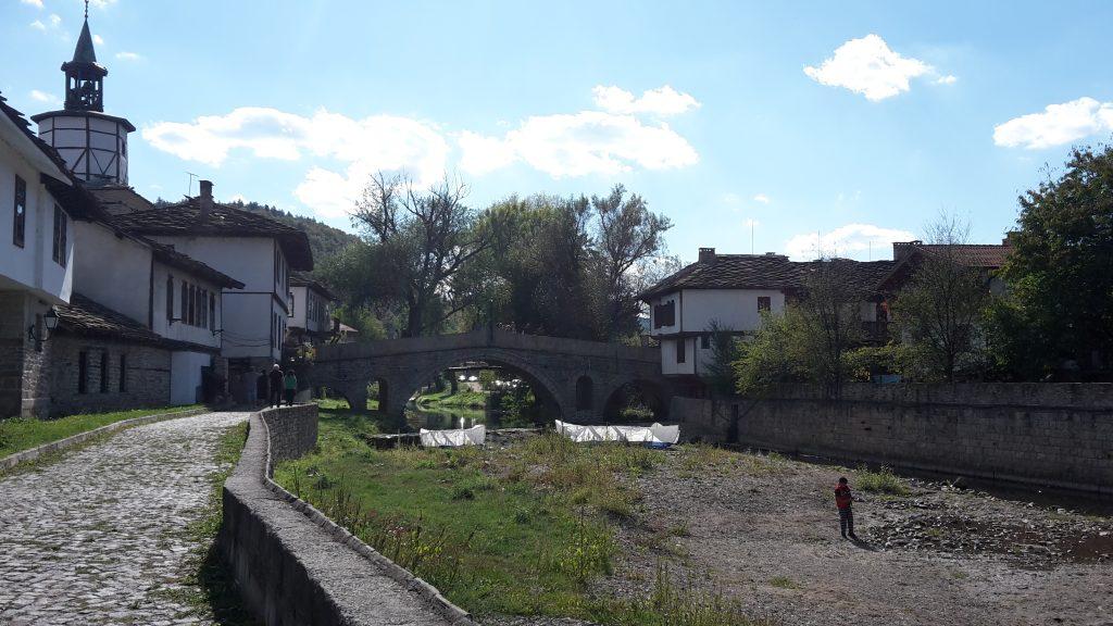 Aussicht von der kleinen Bierbrauerein in Triavna